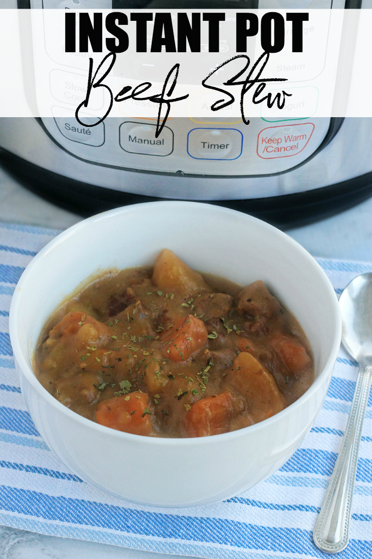 Enjoy a nice hearty meal packed with flavour in a snap. This Instant Pot Beef Stew is a perfect meal to fill your family's belly with little effort and time. #InstantPot #Recipe