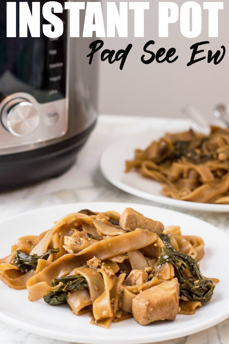 Enjoy Thai street food with a twist by making this Instant Pot Pad See Ew. It's bursting with that Thai flavour you love in less time and with less prep work. #InstantPot #Recipe